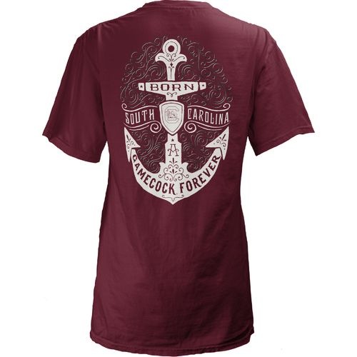 Three Squared Juniors' University of South Carolina Anchor Flourish V-neck T-shirt