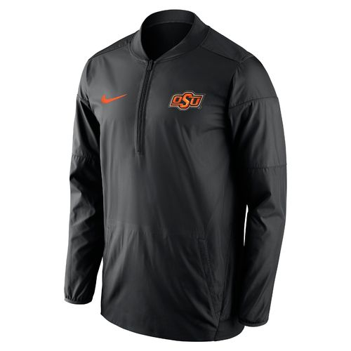 Nike Men's Oklahoma State University Lockdown 1/2 Zip Jacket