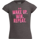 Under Armour Girls' Wake Up, Win, Repeat T-shirt - view number 1