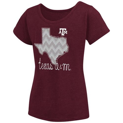 Colosseum Athletics™ Girls' Texas A&M University Tissue 2017 T-shirt