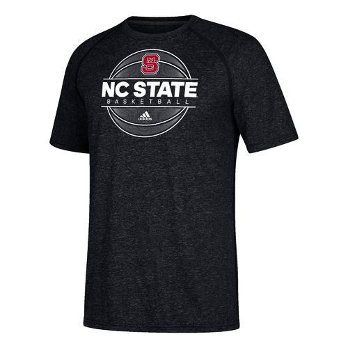 adidas Men's North Carolina State University On Court Short Sleeve Basketball T-shirt