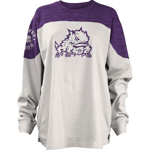 Three Squared Juniors' Texas Christian University Cannondale Long Sleeve T-shirt