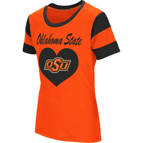 Colosseum Athletics Girls' Oklahoma State University Bronze Medal Short Sleeve T-shirt