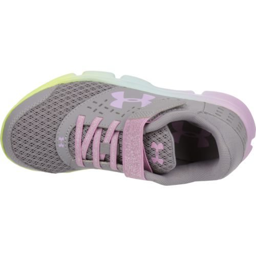 Under Armour Girls' Rave RN Prism Running Shoes - view number 4