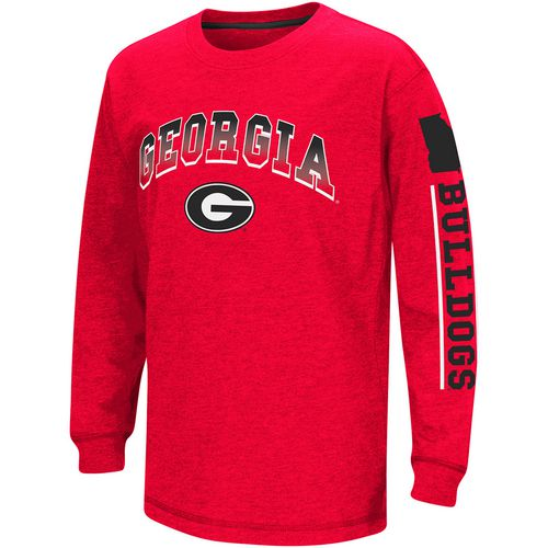 Colosseum Athletics Boys' University of Georgia Grandstand Long Sleeve T-shirt