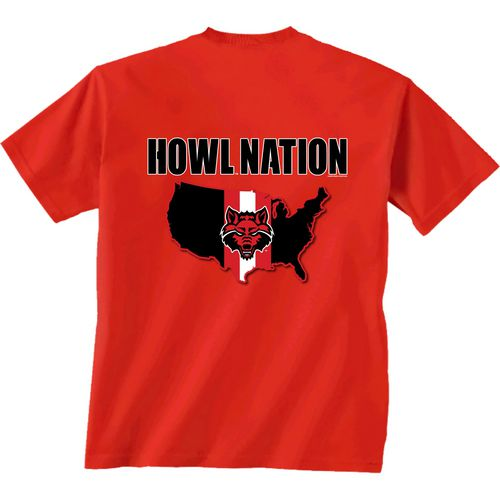 New World Graphics Men's Arkansas State University Stripe Nation T-shirt