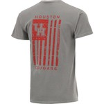 Image One Men's University of Houston Comfort Color Distressed Flag T-shirt - view number 2