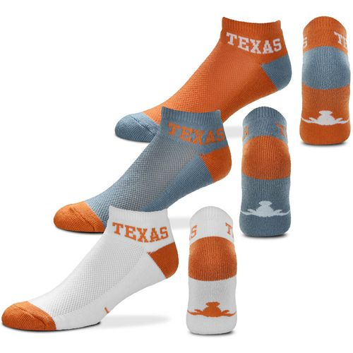 For Bare Feet University of Texas Low-Cut Money Socks 3 Pack