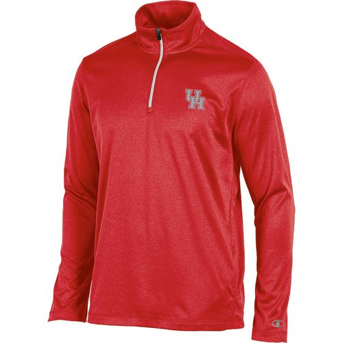 Champion Men's University of Houston Victory 1/4 Zip Long Sleeve Pullover