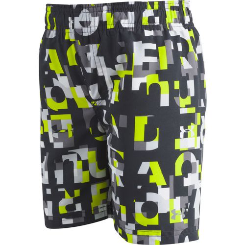 Under Armour Boys' Word Toss Volley Swim Shorts