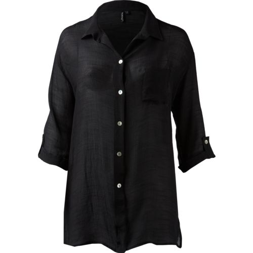 Porto Cruz Women's Plus Size 3/4-Length Sleeve Cover-Up Shirt - view number 2