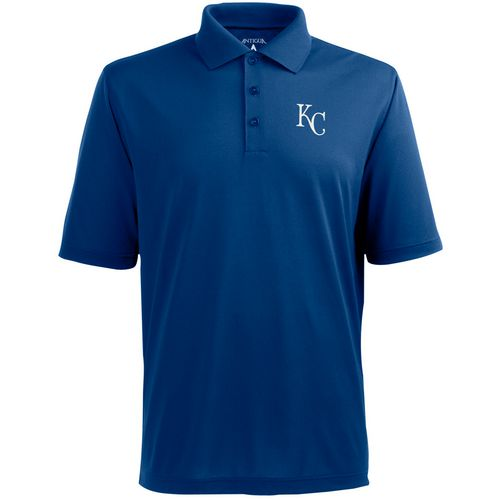 Antigua Men's Kansas City Royals Pique Xtra Lite Polo Shirt