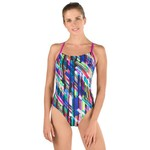 Speedo Women's Geo Storm Relay Back 1-Piece Swimsuit - view number 2