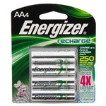 Energizer® Rechargeable NiMH AA Batteries 4-Pack