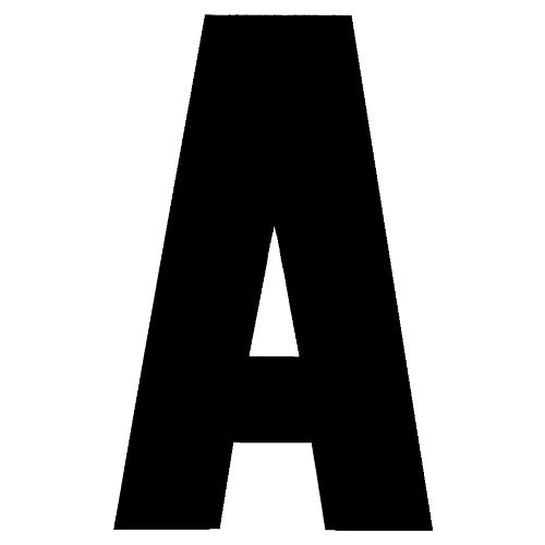 Hardline Products® Dyer 3' Letter A Decal