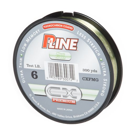 P-Line CX Premium 6 lb. - 300 yards Fluorescent Fluorocarbon Coated Fishing Line Filler Spool