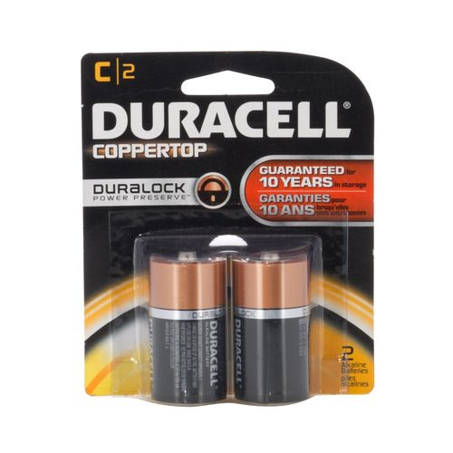 Duracell Coppertop C Batteries 2-Pack
