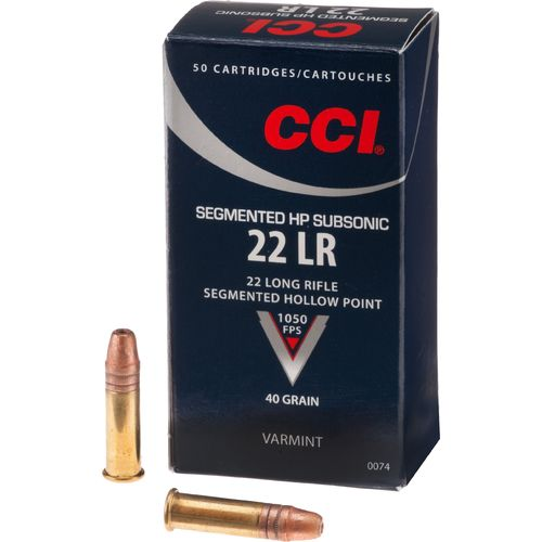 CCI® .22 LR 40-Grain Subsonic Segmented Hollow-Point Rimfire Ammunition