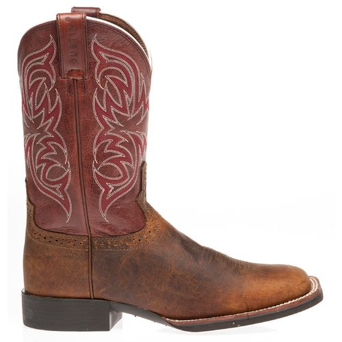 Justin Men's Stampede Cattleman Rugged Cow Western Boots