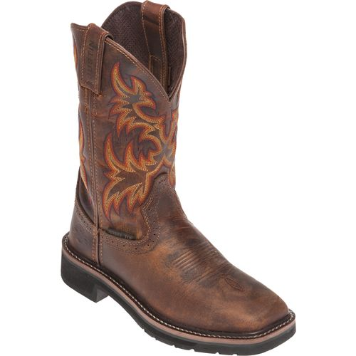 Justin Women's Stampede Rugged Cowhide Steel Toe Western Work Boots - view number 3