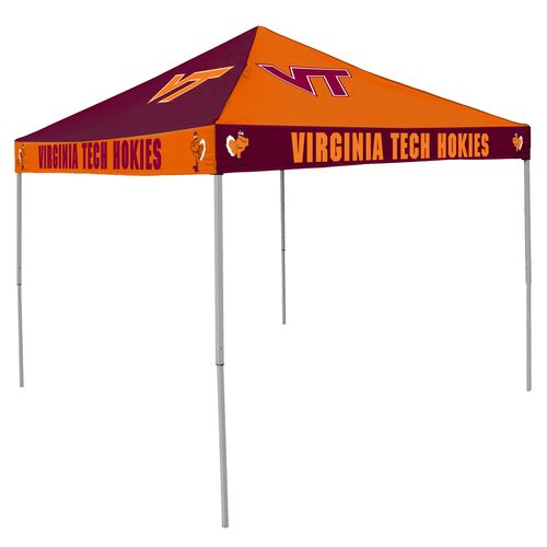 Logo Virginia Tech Straight-Leg 9 ft x 9 ft Checkerboard Tent