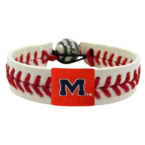GameWear University of Mississippi Classic Baseball Bracelet