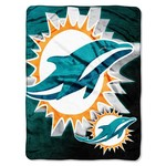 The Northwest Company Miami Dolphins Bevel Micro Raschel Throw