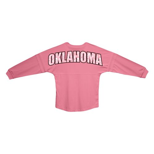 Boxercraft Women's University of Oklahoma Paisley Pom Pom Jersey