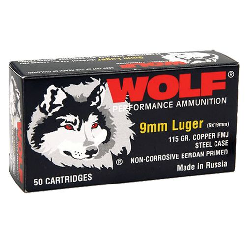 Display product reviews for WOLF Performance Ammunition 9mm 115-Grain Full Metal Jacket Centerfire Handgun Ammunition