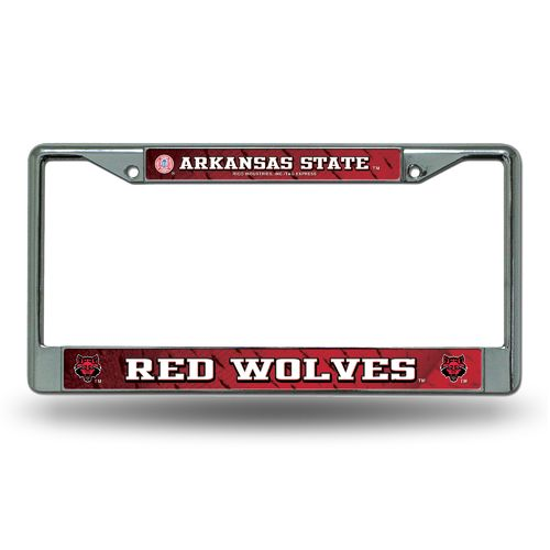 Rico Arkansas State University Chrome License Plate Frame
