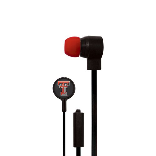 Mizco Texas Tech University Big Logo Earbuds