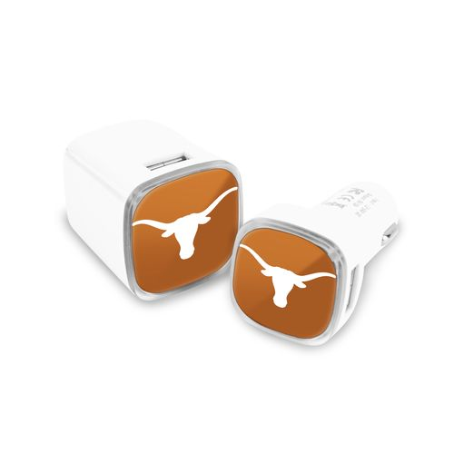 Mizco University of Texas USB Chargers 2-Pack