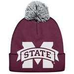 adidas Men's Mississippi State University Fan Gear Cuffed Pom Knit Hat