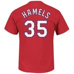 Majestic Men's Texas Rangers Cole Hamels #35 T-shirt