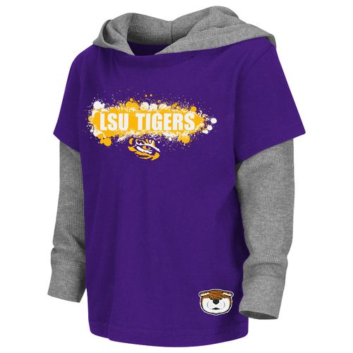 Colosseum Athletics Toddler Boys' Louisiana State University Splatter Hooded T-shirt