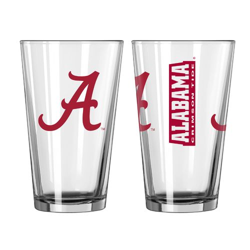Boelter Brands University of Alabama Game Day 16 oz. Pint Glasses 2-Pack