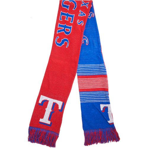 Team Beans Adults' Texas Rangers Reversible Split Logo Scarf