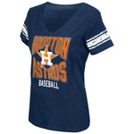 G-III for Her Women's Houston Astros G34Her First Pick Deep V-neck T-shirt