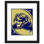 "Photo File University of Pittsburgh Logo 16"" x 20"" Matted and Framed Photo"