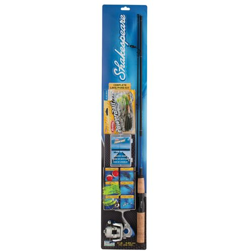 """Shakespeare® Complete Lake/Pond 5'6"""" M Freshwater Spinning Rod"""