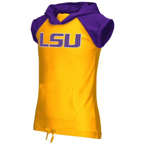 Colosseum Athletics Girls' Louisiana State University Jewel Short Sleeve Hoodie