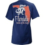 Three Squared Juniors' University of Florida State Monogram Anchor T-shirt