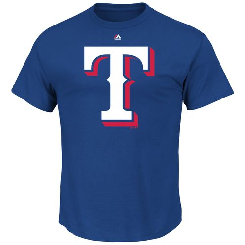 Majestic Men's Texas Rangers Official Logo T-shirt - view number 1