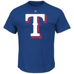 Majestic Men's Texas Rangers Official Logo T-shirt