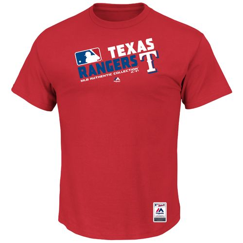 Majestic Men's Texas Rangers On Field Team Choice T-shirt