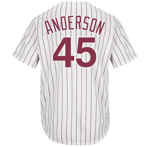 Majestic Men's Philadelphia Phillies Sparky Anderson #45 Cooperstown Cool Base 1980 Replica Jers
