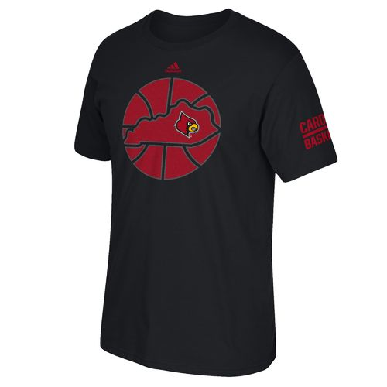 Adidas men 39 s university of louisville sportin 39 state t for Louisville t shirt printing