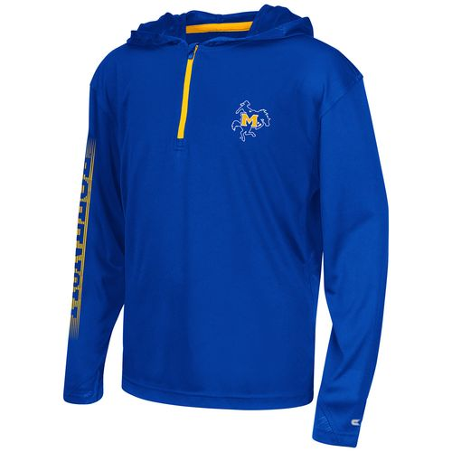 Colosseum Athletics™ Boys' McNeese State University Sleet 1/4 Zip Hoodie Windshirt
