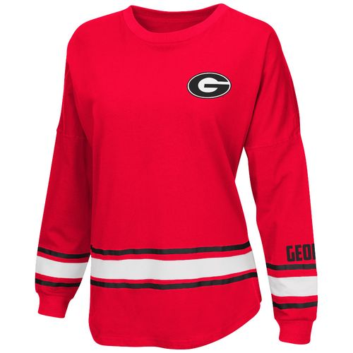 Colosseum Athletics™ Women's University of Georgia All Around Oversize Long Sleeve T-shirt