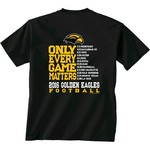 New World Graphics Men's University of Southern Mississippi Schedule T-shirt
